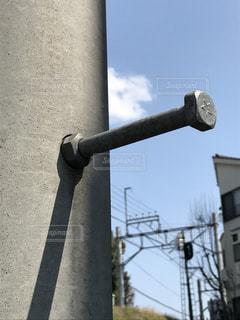 電柱の出っ張りの写真・画像素材[829653]