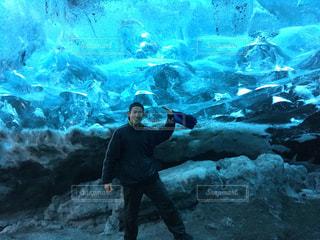 氷の洞窟の写真・画像素材[830042]