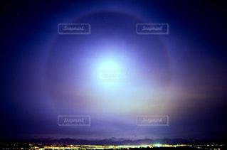 月の暈の写真・画像素材[833426]