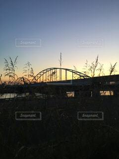 晩秋の夕景の写真・画像素材[907997]