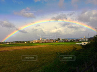 Found a rainbow in the beautiful morningの写真・画像素材[833002]
