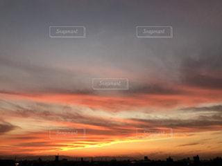 夕焼け空の写真・画像素材[833242]