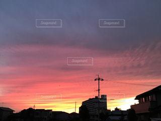 夕焼け空の写真・画像素材[833275]