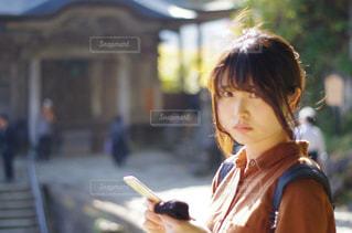 山寺デートの写真・画像素材[834758]