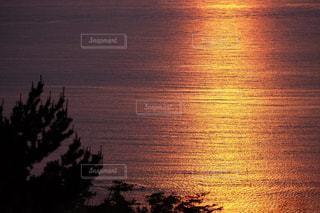 男鹿の海の夕焼け X-T10の写真・画像素材[837133]