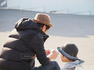 粋な帽子の親子の写真・画像素材[1653722]