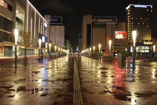 雨、夜、旭川の写真・画像素材[834102]