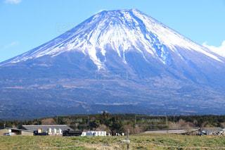 冬の富士山の写真・画像素材[918799]
