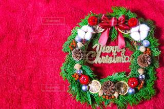 クリスマスリースの写真・画像素材[1591242]