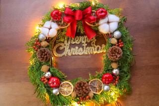 クリスマスリースの写真・画像素材[1593479]