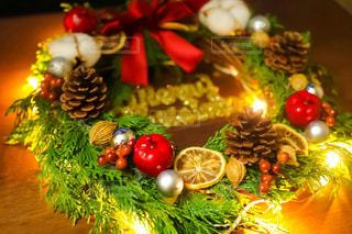 クリスマスリースの写真・画像素材[1593551]