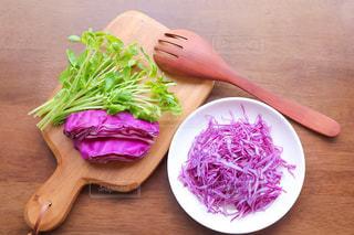 紫キャベツのサラダの写真・画像素材[1606330]
