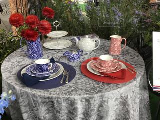 美しいテーブルセッティングの写真・画像素材[2709571]