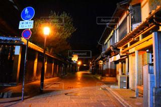 夜の道の写真・画像素材[845161]