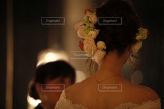 結婚式。後ろ姿。の写真・画像素材[837810]