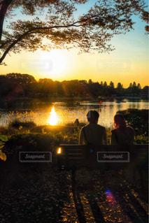 夕陽の写真・画像素材[863952]