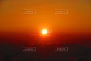 富士山からの日の出の写真・画像素材[1523401]