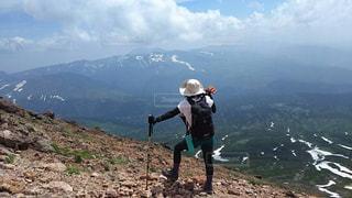 登山中の景色の写真・画像素材[1620391]