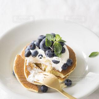 おいしいブルーベリーパンケーキの写真・画像素材[849037]
