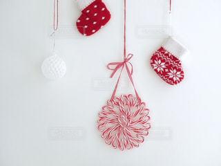 キャンディケーンでクリスマス飾りの写真・画像素材[849147]