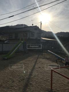 太陽と公園の写真・画像素材[879535]