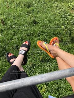 姉妹足の写真・画像素材[1418364]
