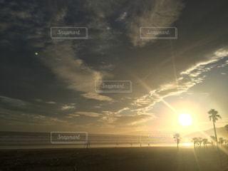 海からのサンセットの写真・画像素材[1432092]