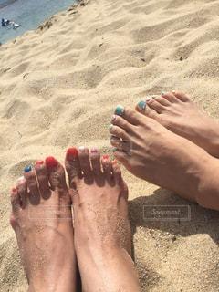 ビーチと足の写真・画像素材[1716444]