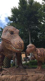 恐竜の像の写真・画像素材[1716447]