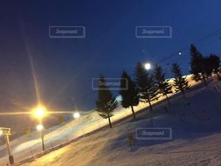 夜のスキー場の写真・画像素材[1802108]