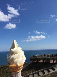 青空ソフトクリームの写真・画像素材[1847716]