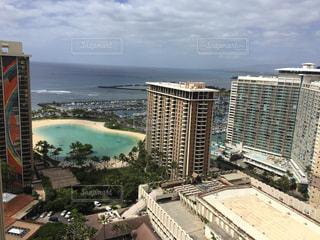 ハワイのホテルからの眺望の写真・画像素材[840682]