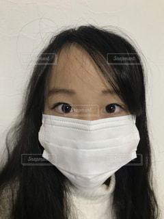 マスク顔の写真・画像素材[2807528]