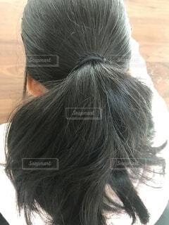 量が多い髪質の写真・画像素材[4048551]