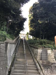 橋を渡って歩く男 - No.841004