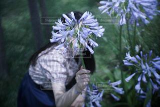 花と女の子の写真・画像素材[1119741]