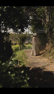 散歩する女性の写真・画像素材[1119748]