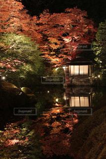 日光秋のリフレクションの写真・画像素材[853189]