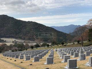 景色の良い墓地公園。の写真・画像素材[889595]