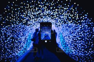 青いトンネルの写真・画像素材[843686]