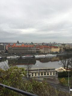 プラハの川の写真・画像素材[844020]