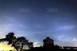 夜中のキャンプ場の写真・画像素材[844843]