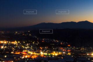 八ヶ岳と夜景の写真・画像素材[845319]