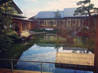 旅館の庭園。 - No.847594