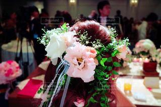 近くの花のアップの写真・画像素材[901924]