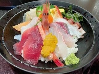 海鮮丼のクローズアップの写真・画像素材[4012522]