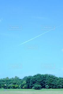 飛行機雲の写真・画像素材[846045]