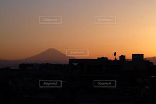 夕焼けと富士山の写真・画像素材[846116]