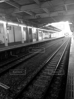 鉄道の駅に引いての写真・画像素材[847303]