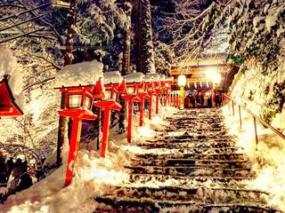 雪に覆われた鉄道の写真・画像素材[852837]